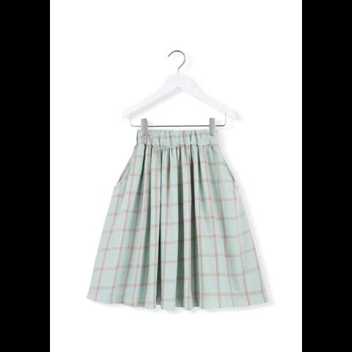 Karirana mint pamučna suknja