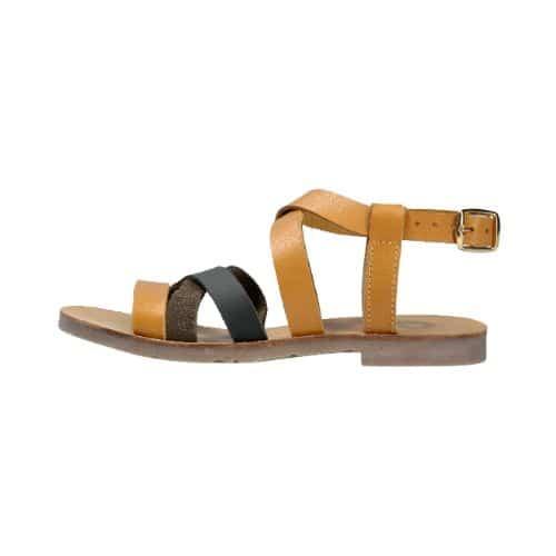 Kožne sandale braon boje