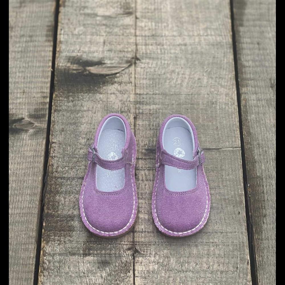 Poluotvorene cipelice za ranu jesen za devojčice ljubičaste boje