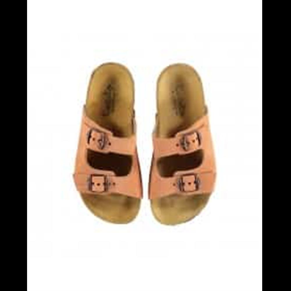 Papuče kajsija boje u stilu popularnih birkenstok za devojčice