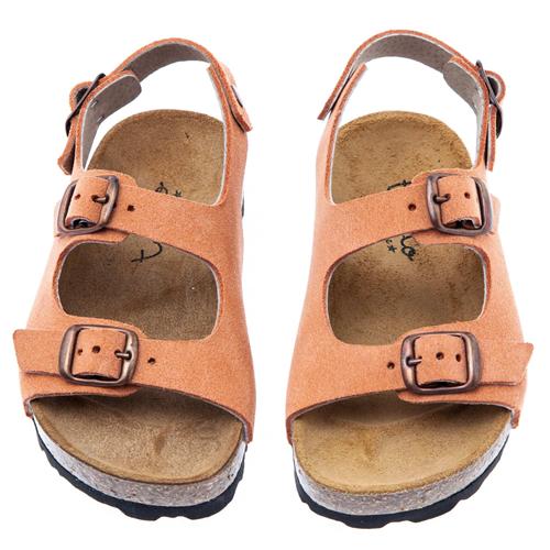 Sandale kajsija boje za devojčice u stilu popularnih birkenstok  sandala