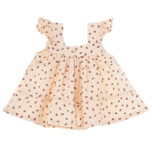 Haljinica za male devojčice sa printom jagodica