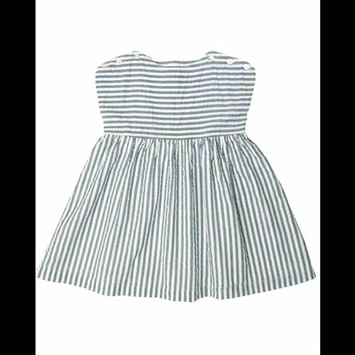 Letnja haljinica na belo plave prugice  bez rukava idealna za leto
