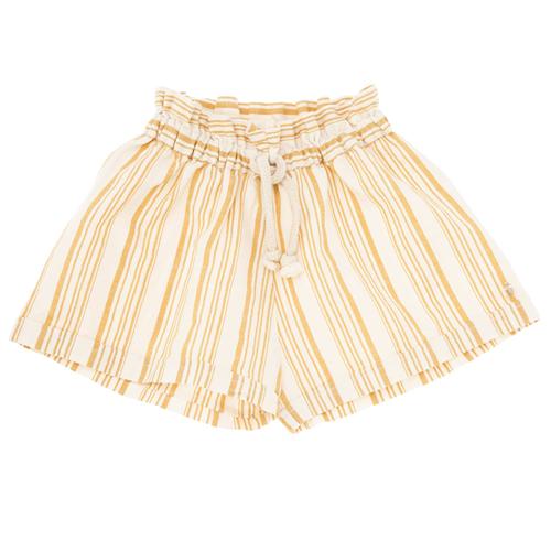 Šorc - širok, lagan, visokog struka za devojčice na belo žute pruge idealan za tople letnje dane
