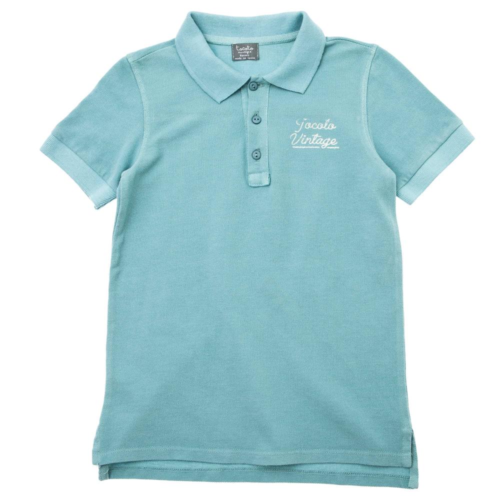 Polo majica za dečake od organskog pamuka plave boje