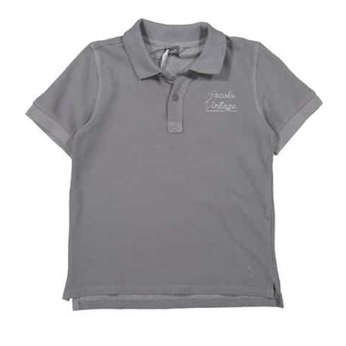 Polo majica za dečake od organskog pamuka sive boje