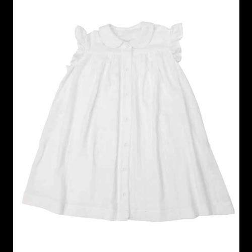 Letnja haljinica romantična i lagana idealna za leto od pamučnog muslina bele boje