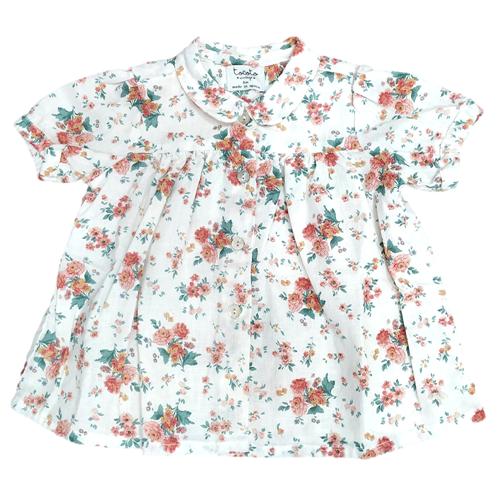 Cvetna haljinica za bebe od tankog lana i pamuka - poslednji komad