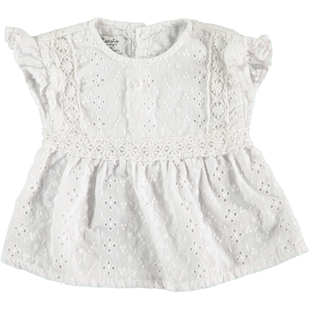 Beli vez tunika bela za bebe