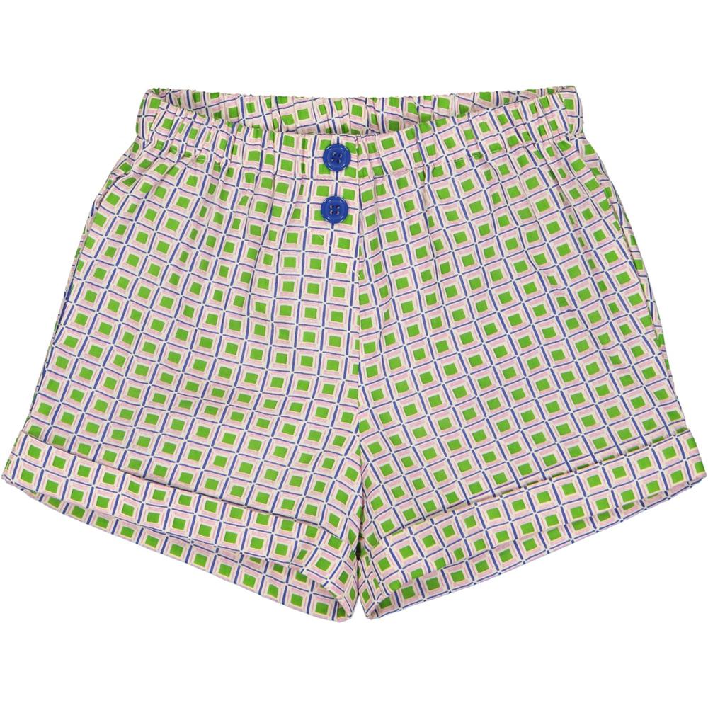 Prelep šorc za devojčice za sve prilike zeleno ljubičastog printa-POSLEDNJI KOMAD