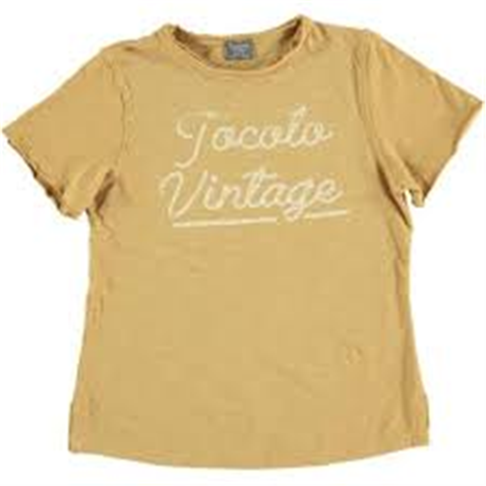 Udobna majica unisex od organskog pamuka oker boje