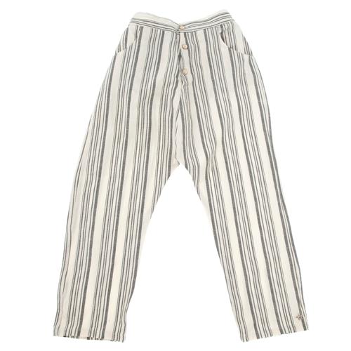 Pantalone tanke na sivo bele pruge za dečake