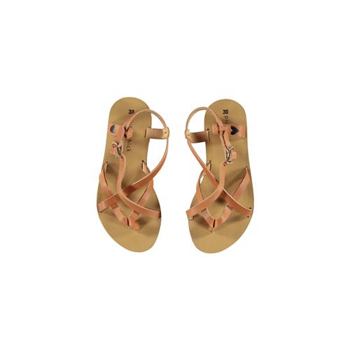 Kožne sandale u stilu rimljanki