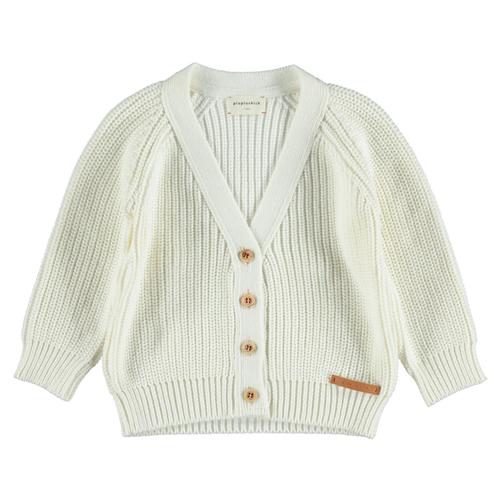 Beli džemper na kopčanje od organskog pamučnog konca bele boje-unisex idealan za početak jeseni