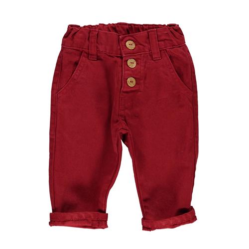 Pantalone od tamnocrvenog kepera uniseks