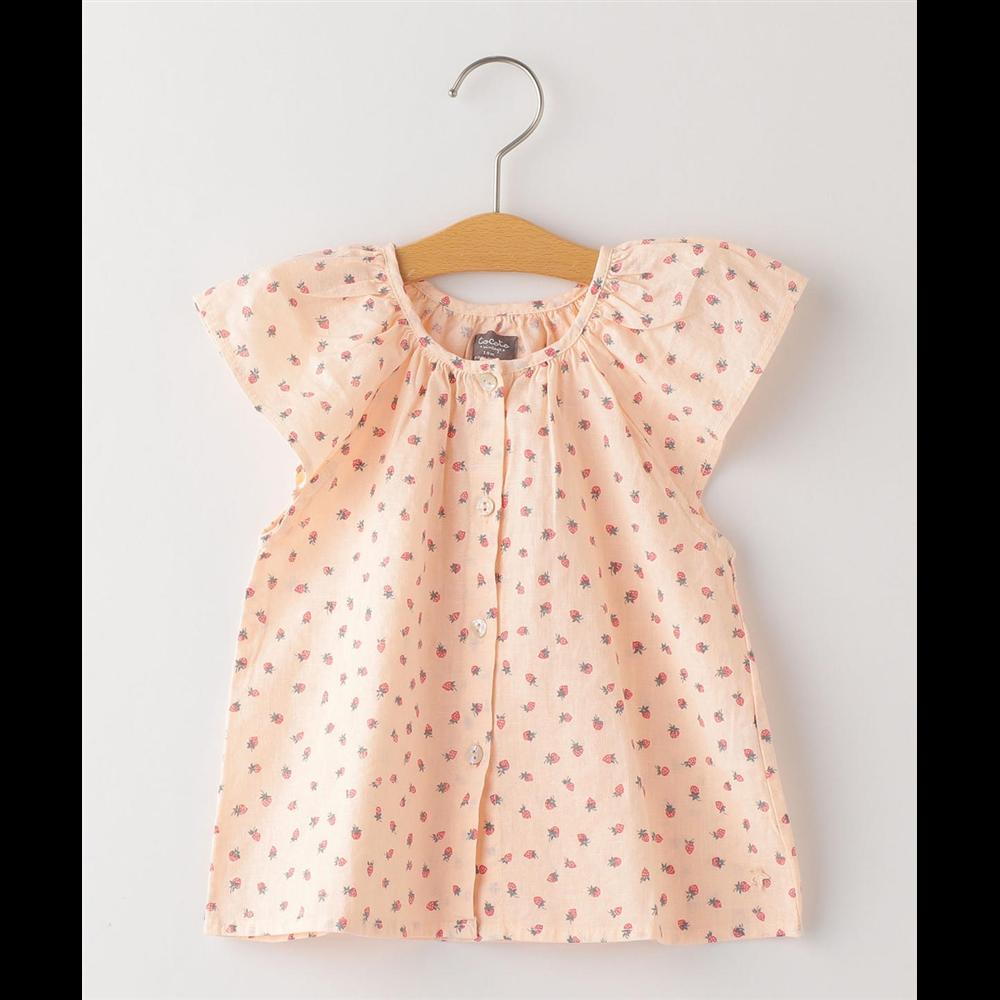 Tunika za bebe nežno roze boje sa printom jagodica