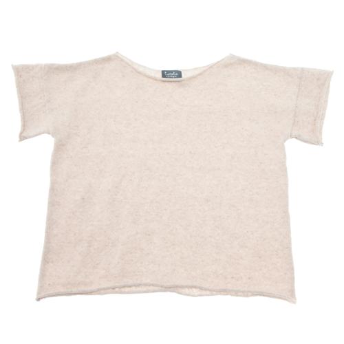 Majica od konca prirodne boje lana sa kratkim rukavima