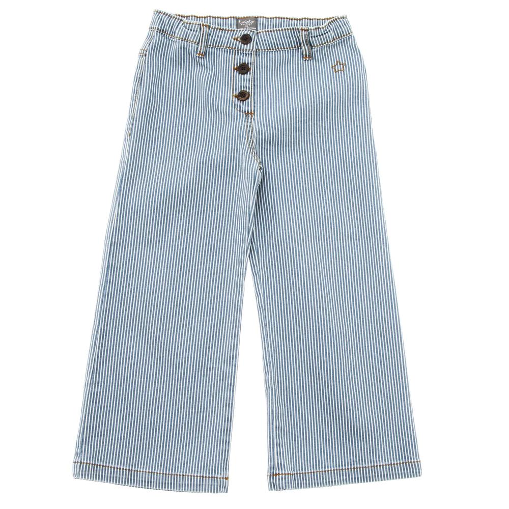 Denim prugasti/ pantalone za devojčice A kroja