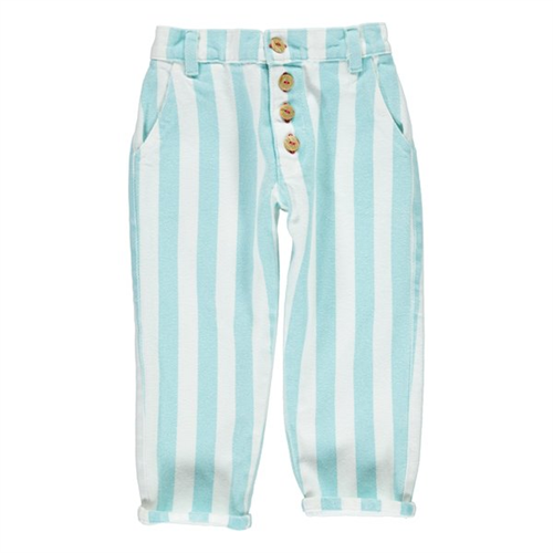 Pantalone od kepera na plavo bele pruge unisex