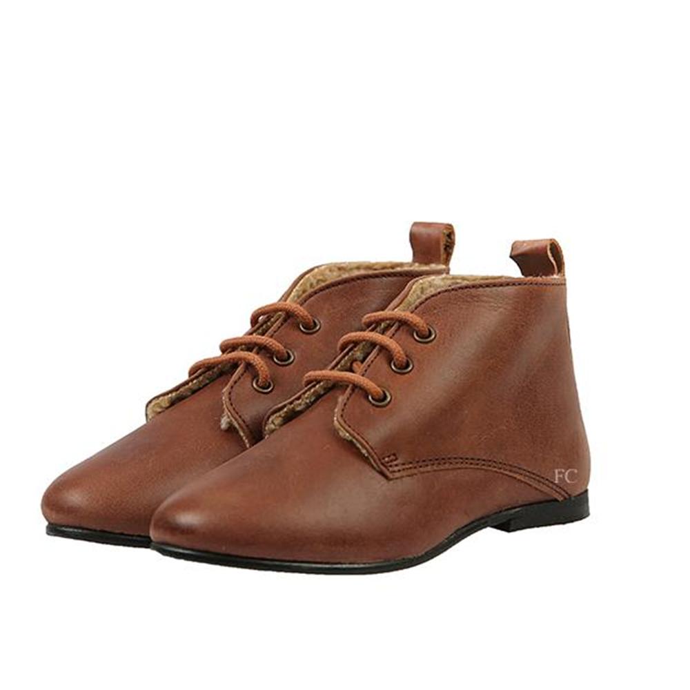 Poluduboke cipele braon koža sa krznom iznutra unisex