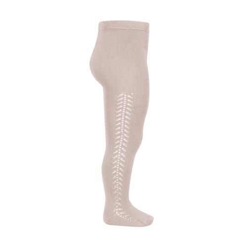 Hulahopke nežno roze boje , rad sa strane sa obe strane nogavica