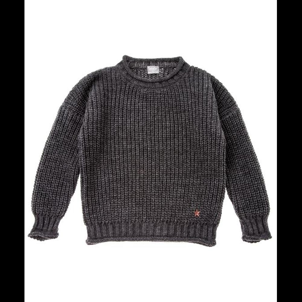 Džemper uniseks mekan i udoban tamno sive boje-POSLEDNJI KOMAD