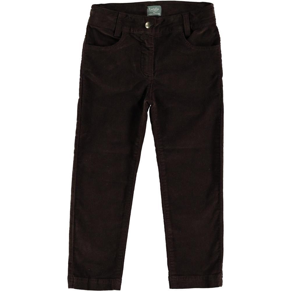 Boja braon tamna/pantalone od pliša ravne idealne za jesen i zimu