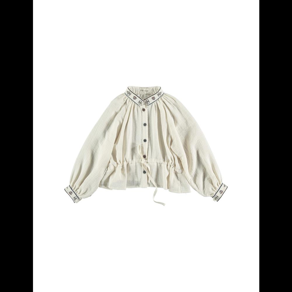 Bež izuzetna košulja za devojčice od organskog pamuka