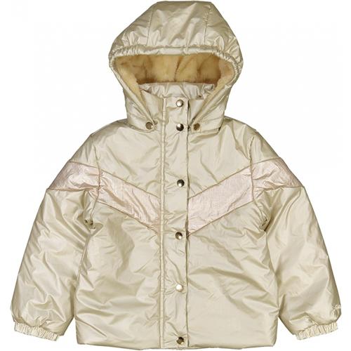 Jakna, topla,zimska podstavljena krznom, sa kapuljačom koja se skida za devojčice