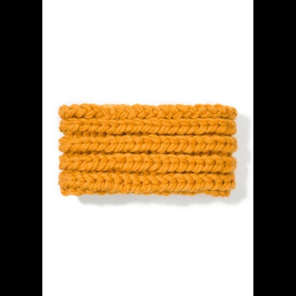 Šal vuneni koji se navlači preko glave  boje senfa