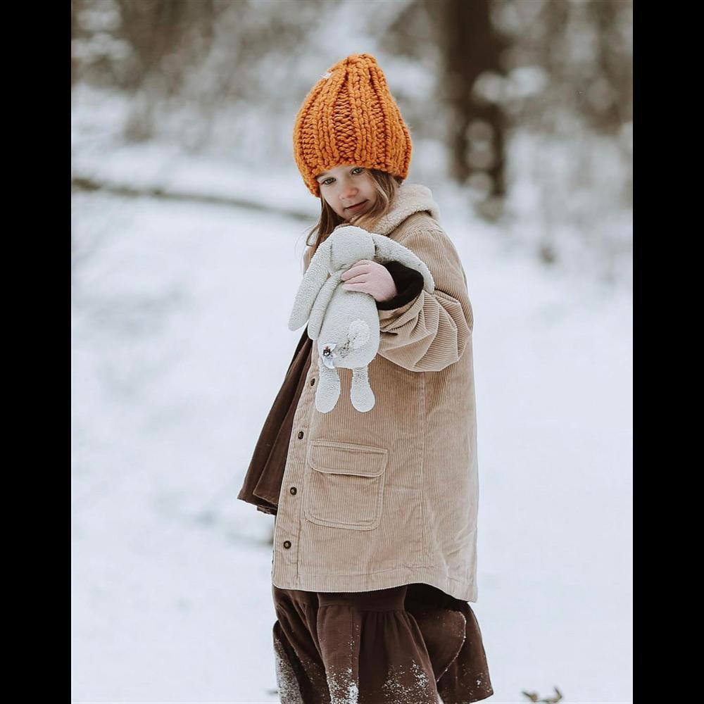 Braon svetli somotni podstavljen kaputić za devojčice -POSLEDNJI KOMAD