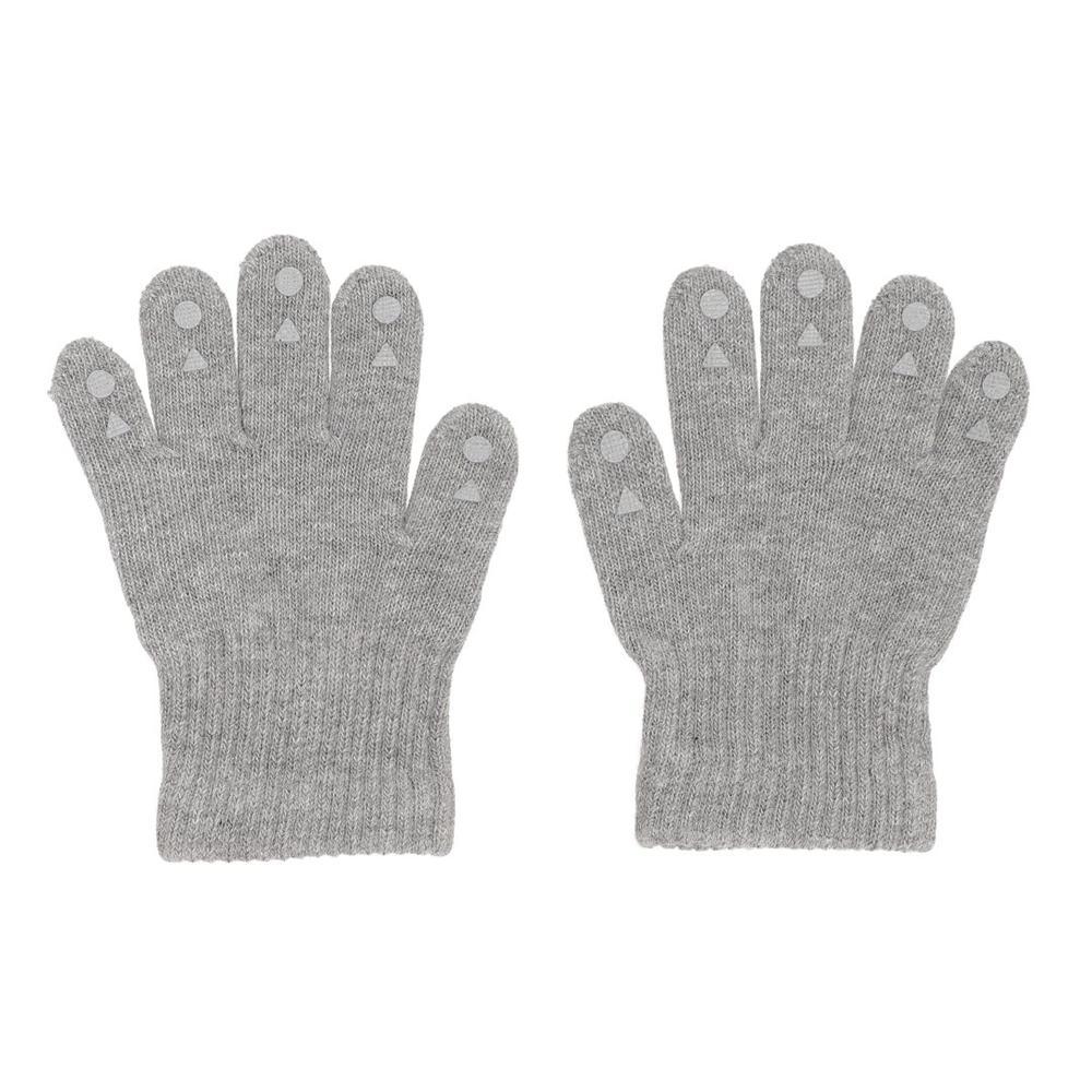 GoBabyGo rukavice sa silikonskim neklizajućim tačkicama-sive