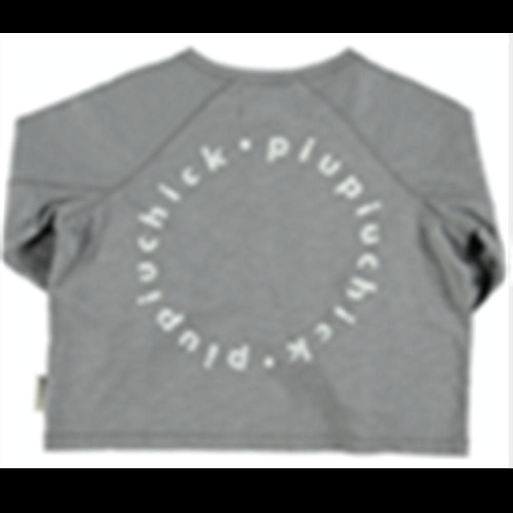 Majica tanja siva od organskog pamuka dug rukav