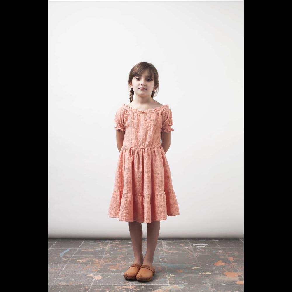 Haljina za leto i proleće nežno ružičaste boje-POSLEDNJI KOMAD