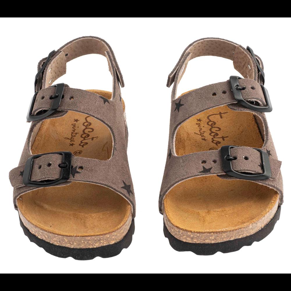 Letnje sandale sive sa zvezdicama u stilu birkenstok-unisex