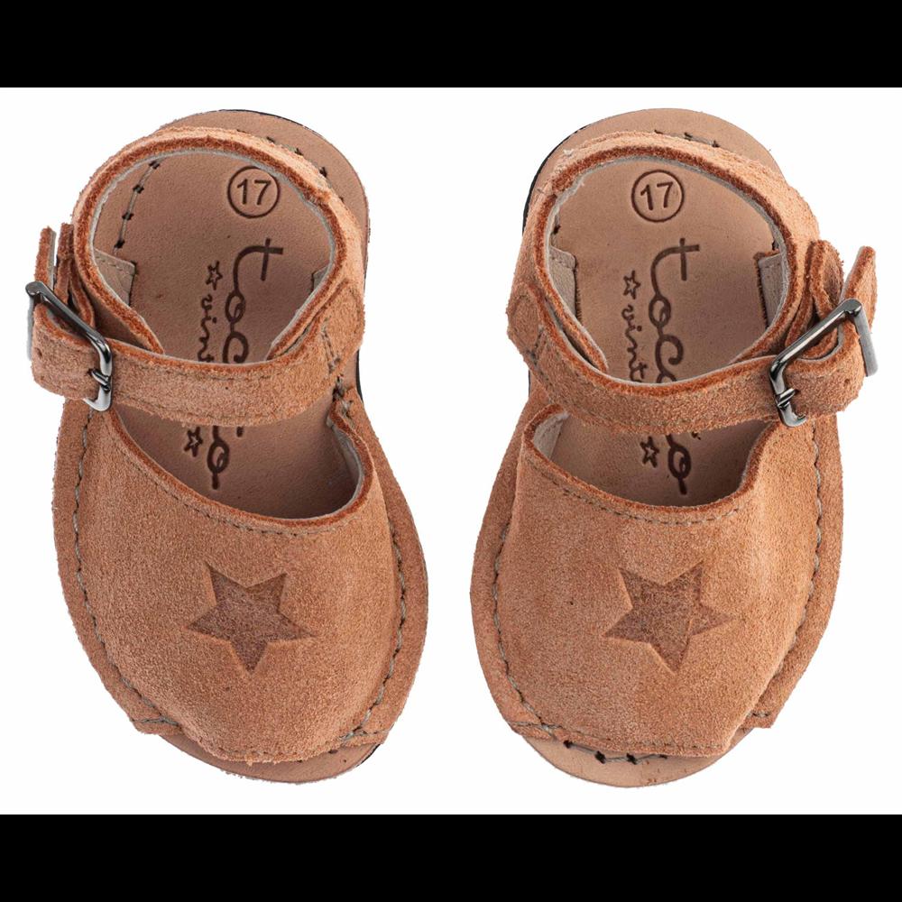 """Letnje """"menorca"""" sandalice za bebe i decu -prljavo roze boje"""