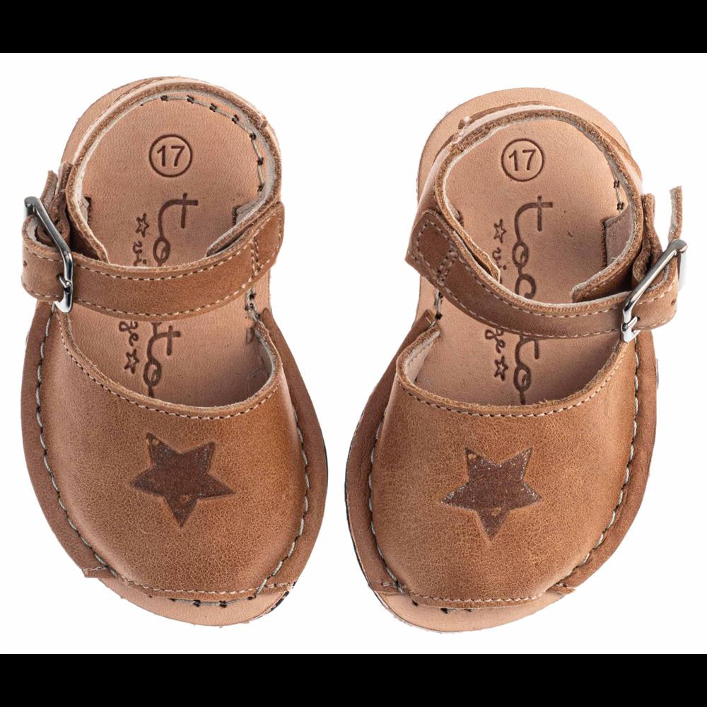 """Letnje """"menorca"""" sandalice za bebe i decu uniseks -braon boje"""