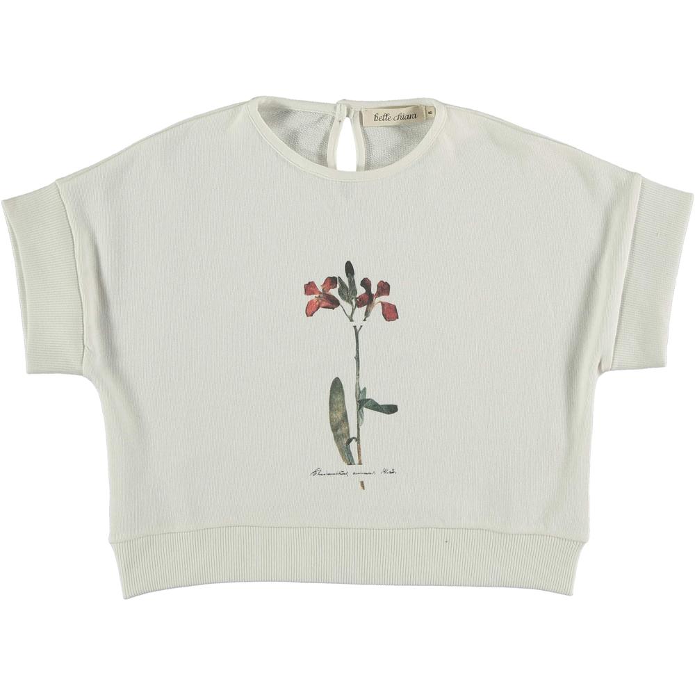 Beli duks majica kratak rukav za devojčice -organski pamuk