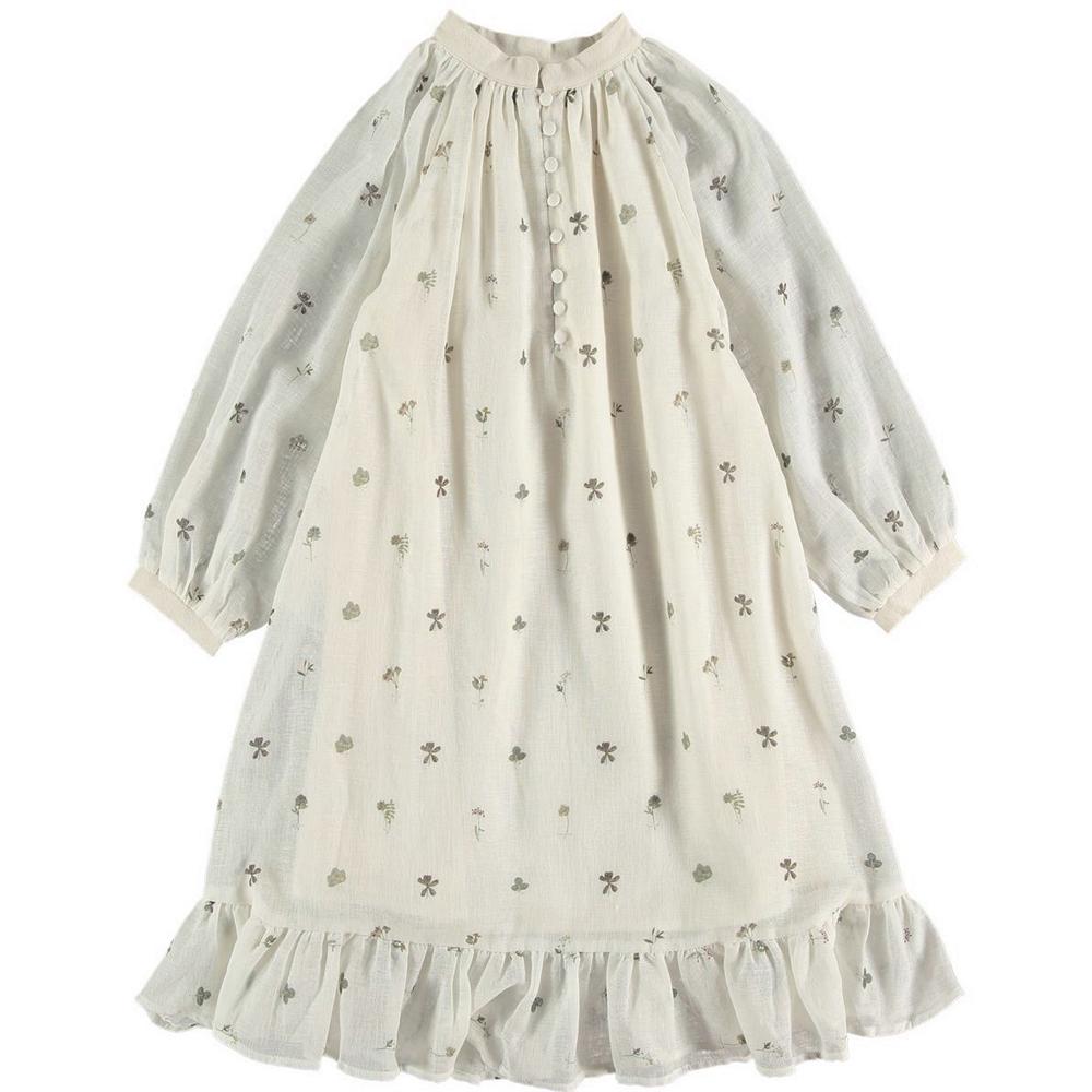 Cvetna duga lagana haljina za proleće i leto od organskog pamuka