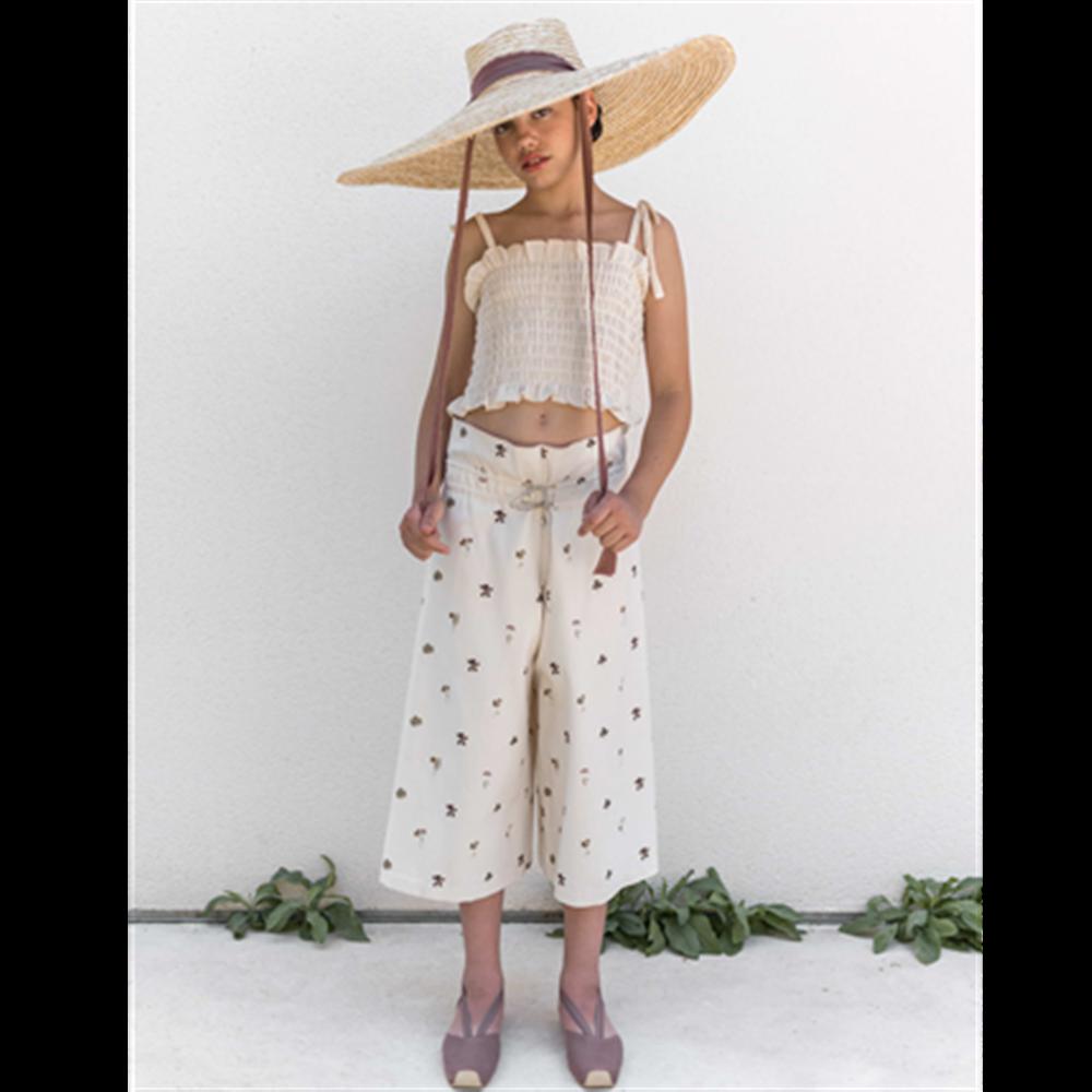Cvetne suknja-pantalone od organskog pamuka
