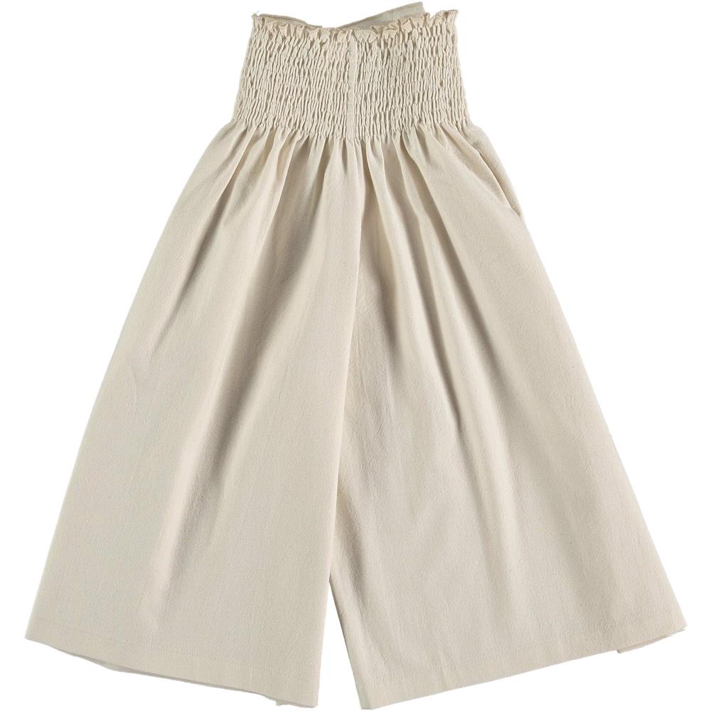 Svetlo bež suknja-pantalone od organskog pamuka idalne za početak jeseni