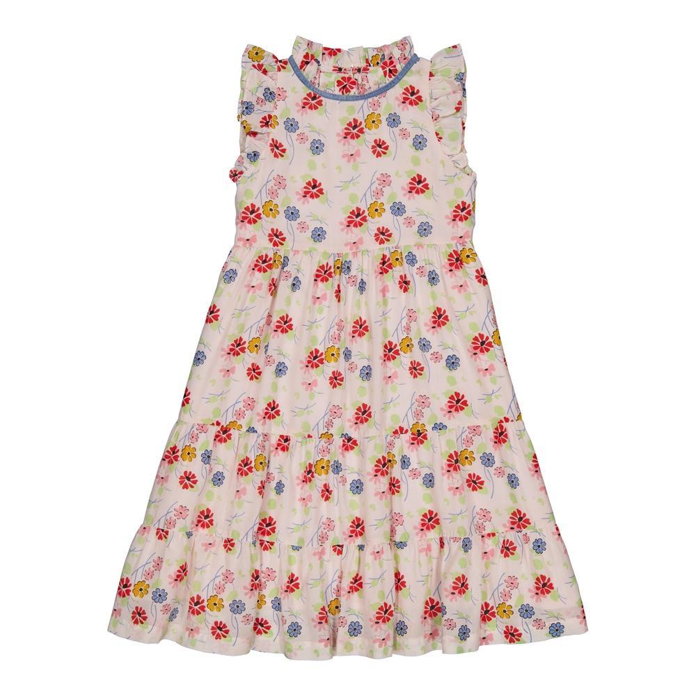 Cvetna haljina u karnerima, bez rukava lagana idealna za letnje dane