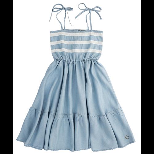 Lagana haljina od liocela sa čipkanim detaljima na bretele