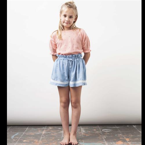 Liocel letnji šorc za devojčice sa čipkom