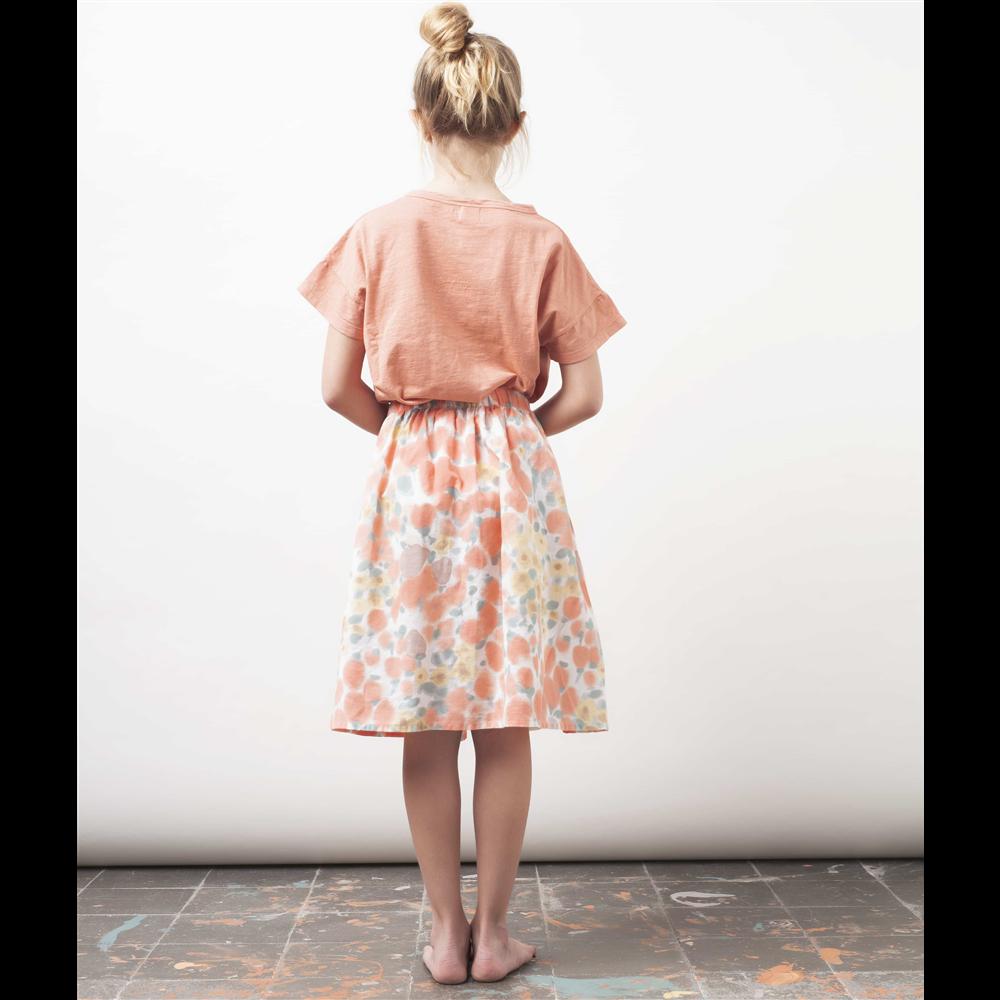 Majica kratak rukav od organskog pamuka nežno ružičaste boje sa natpisom napred