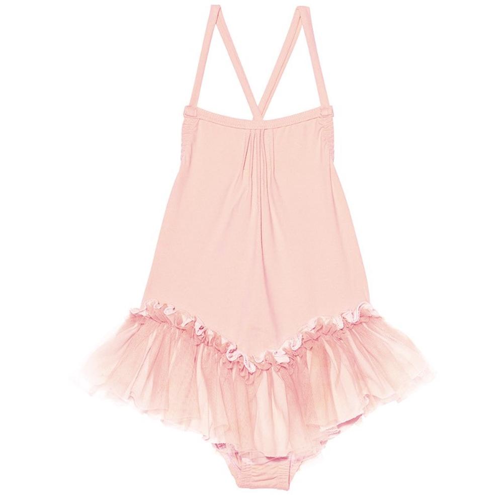 Kupaći kostim iz jednog dela roze sa tutu suknjicom
