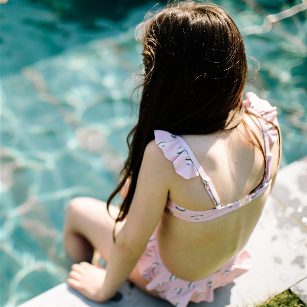 Kupaći kostim roze iz dva dela za devojčice