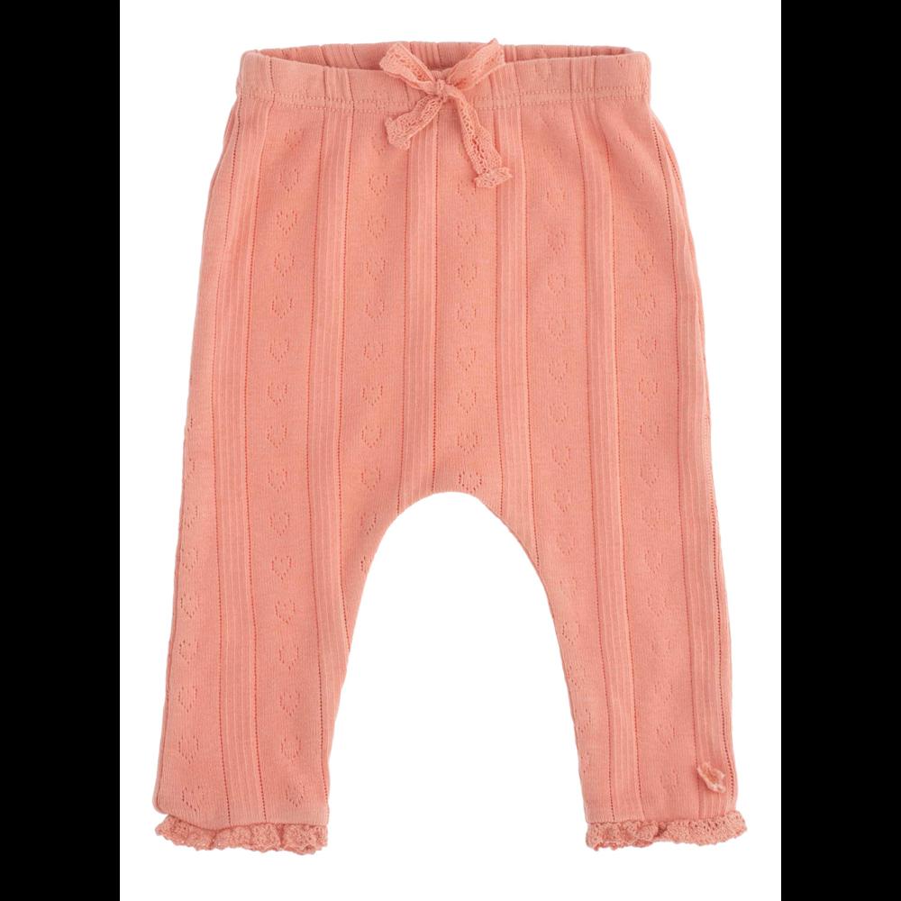 Tanke, lagane helanke od organskog pamuka za bebe nežno pink boje