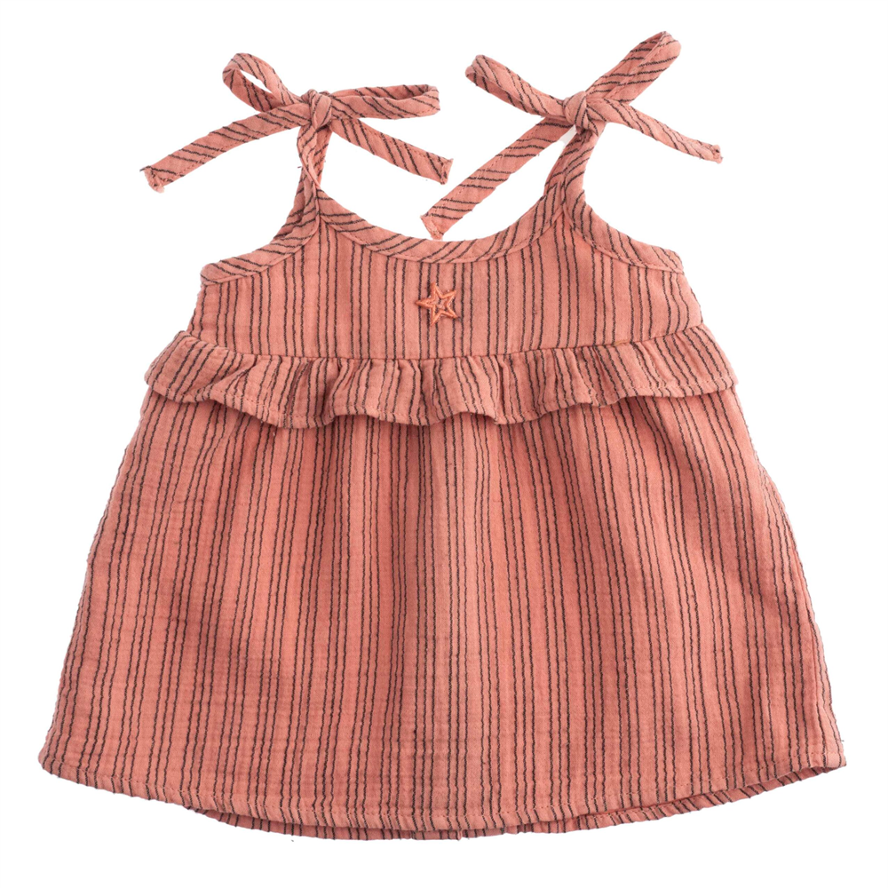 Letnja haljinica od pamuka na bretelice idealna za letnje tople dane