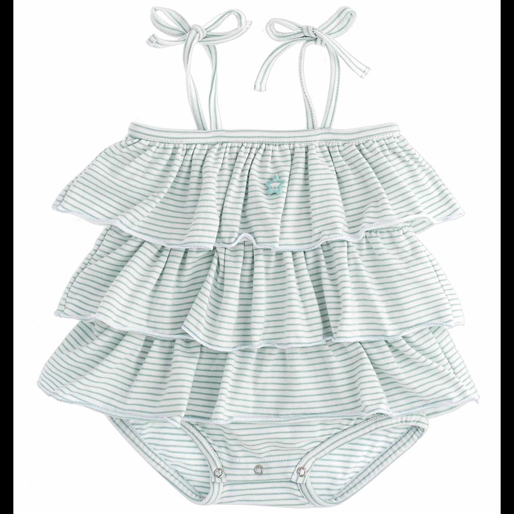 Organski pamuk /letnji bodi za bebe na bretele i sa karnerima